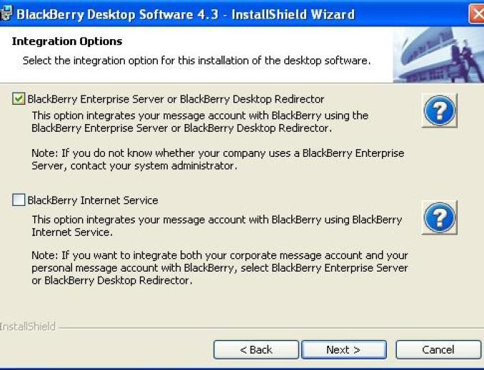 Blackberry Desktop Redirector